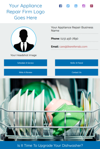 Email Newsletter Marketing Services for Appliance Repair