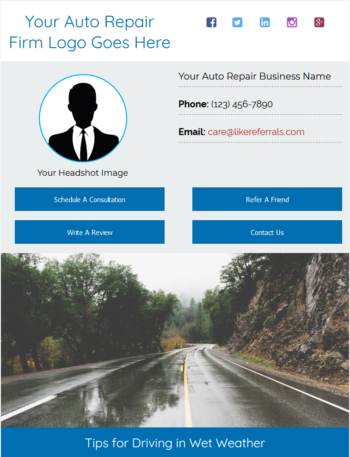 Email Newsletter Marketing Services for Auto Repair Services