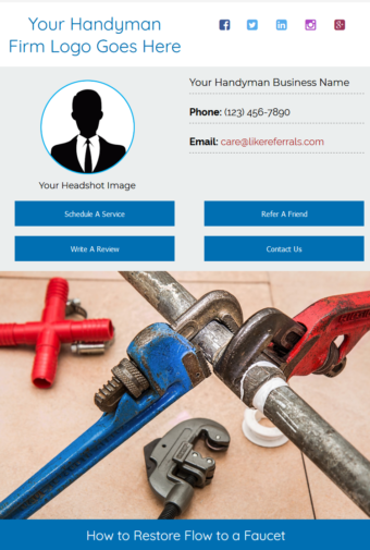 Email Newsletter Marketing Services for Handyman Services