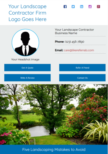 Email Newsletter Marketing Services for Landscape Contractors
