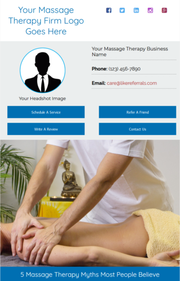 Email Newsletter Marketing Services for Massage Therapy