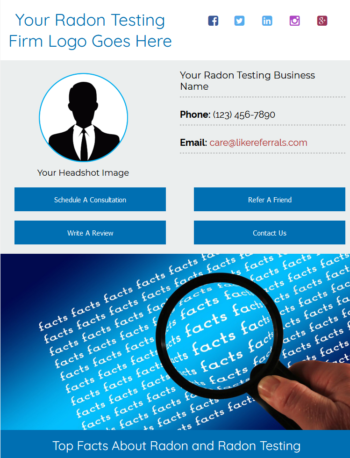 Email Newsletter Marketing Services for Radon Testing