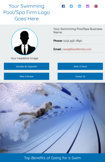 Email Newsletter Marketing Services for Swimming Pool Spa