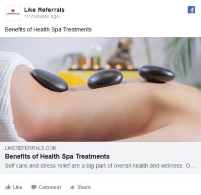 Social Media Marketing Services for Health Spa