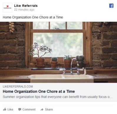 Social Media Marketing Services for Home Organizer