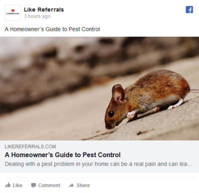 Social Media Marketing Services for Pest Control Services