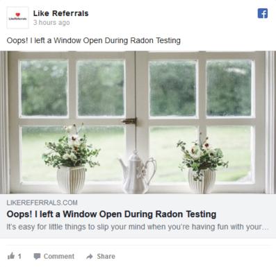 Social Media Marketing Services for Radon Testing