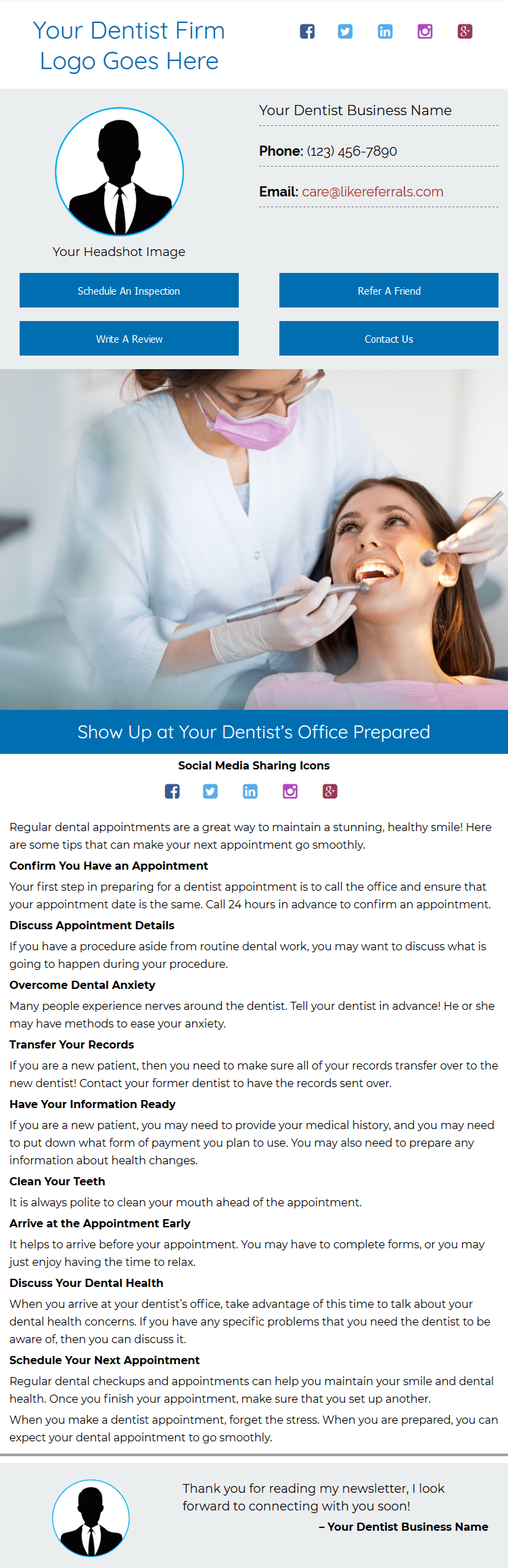Email Newsletter Marketing Services For Dentists