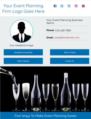 Email Newsletter Marketing Services For Event Planners