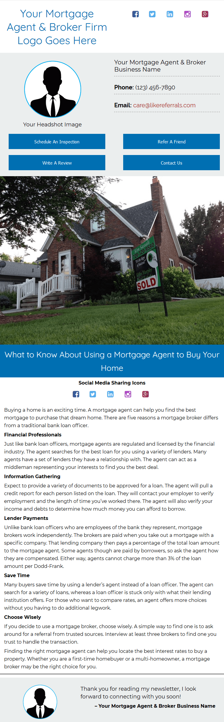 Email Newsletter Marketing Services For Mortgage & Agent