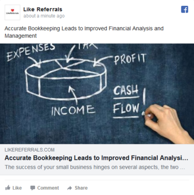 Social Media Marketing Services for Bookkeeping services